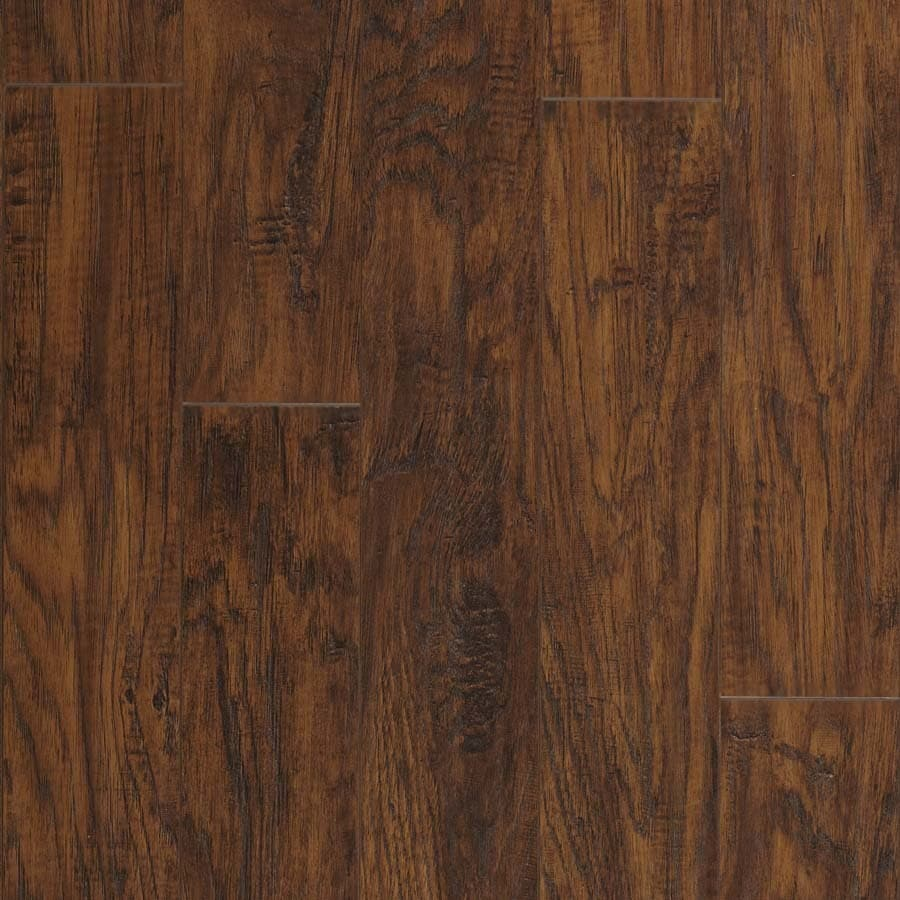 Pergo MAX 5.23-in W x 3.93-ft L Manor Hickory Handscraped Wood Plank Laminate Flooring