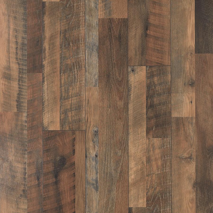 Pergo MAX 7.48-in W x 3.93-ft L River Road Oak Embossed Wood Plank Laminate Flooring