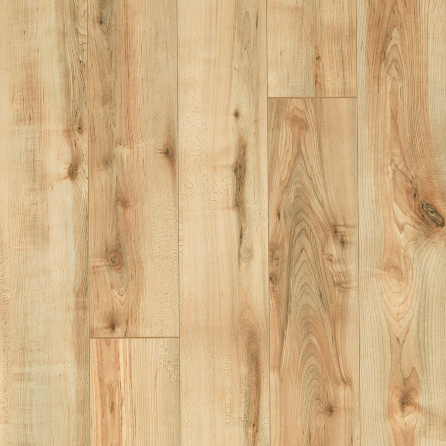 Style Selections 5.23-in W x 3.93-ft L Rustic Honey Maple Smooth Wood Plank Laminate Flooring