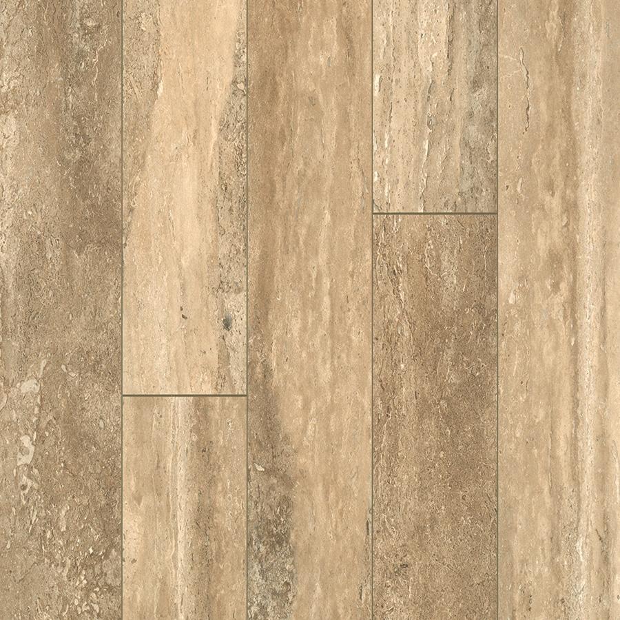allen + roth 5.23-in W x 3.93-ft L Estate Stone Tile Look Laminate Flooring