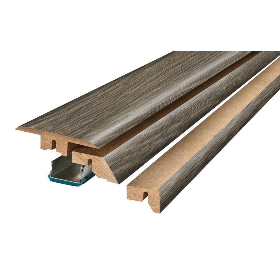 SimpleSolutions 2.375-in x 78.75-in Gray Hickory 4-N-1 Floor Moulding