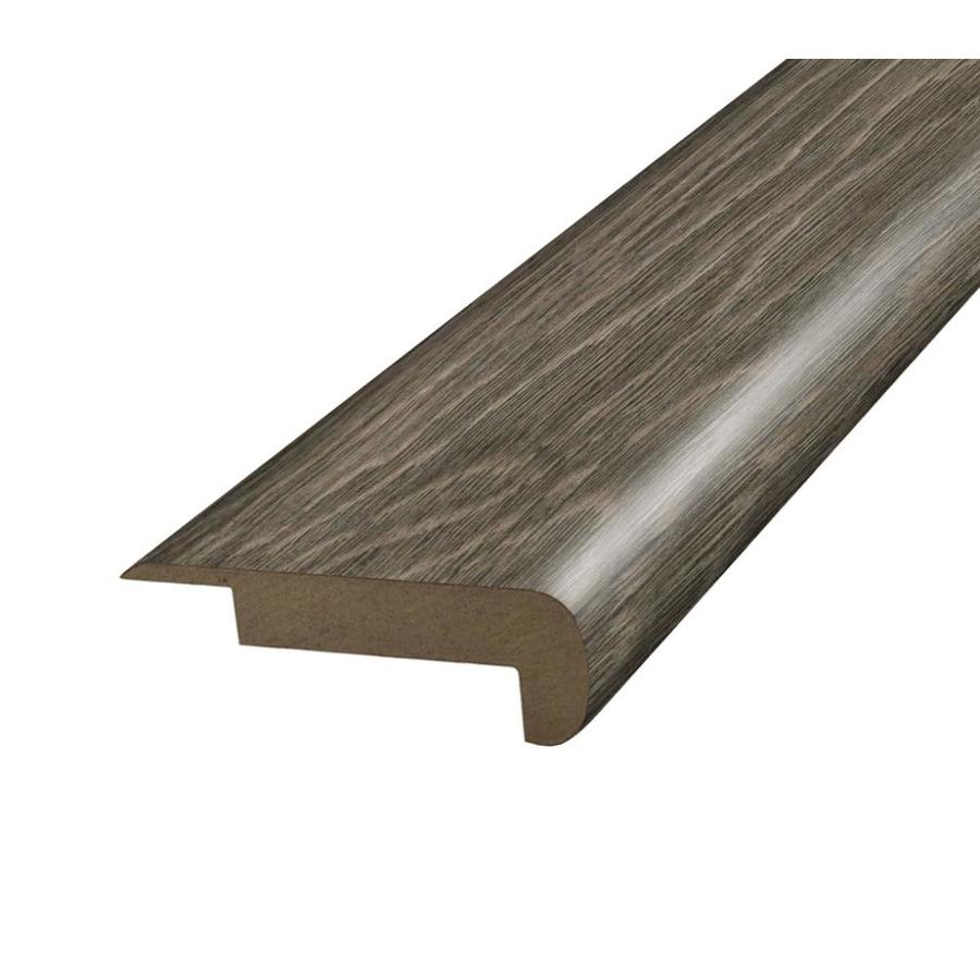 SimpleSolutions 2.375-in x 78.75-in Grey Hickory Stair Nose Floor Moulding