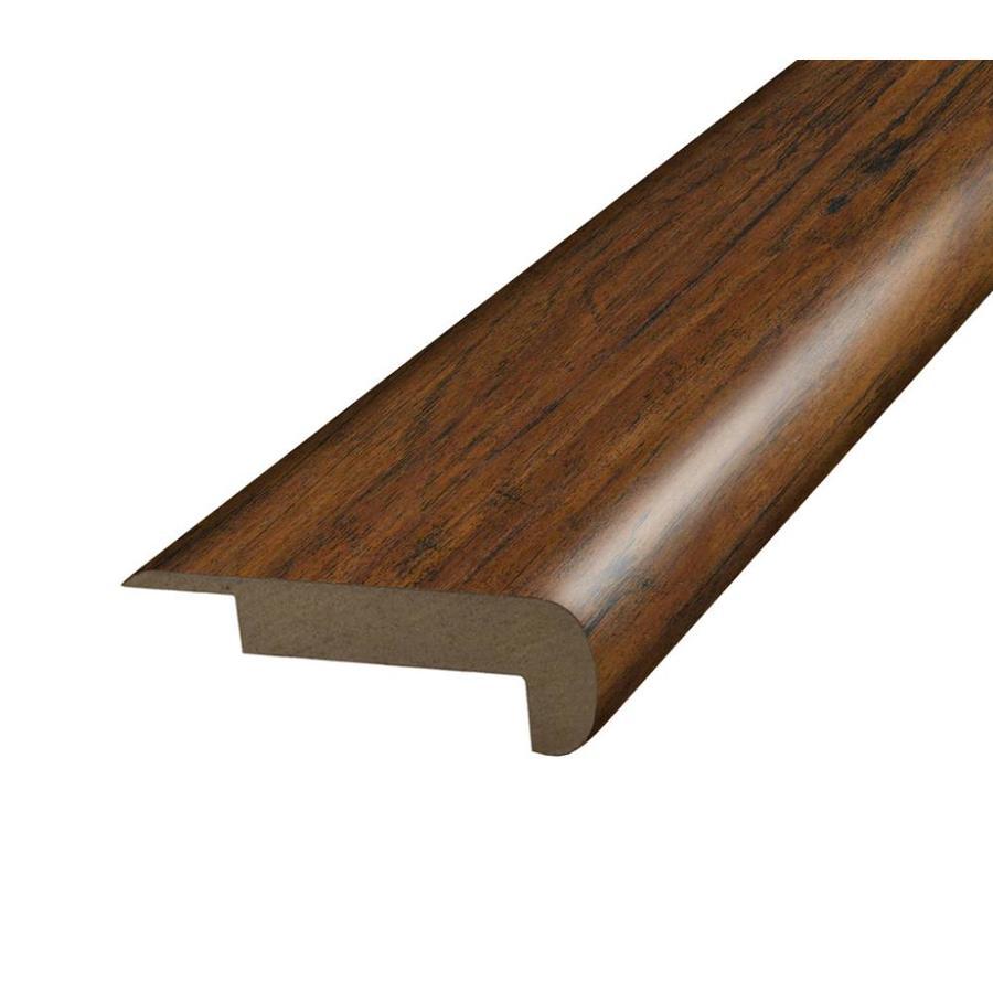 SimpleSolutions 2.375-in x 78.75-in Brown/Tan Acacia Stair Nose Floor Moulding