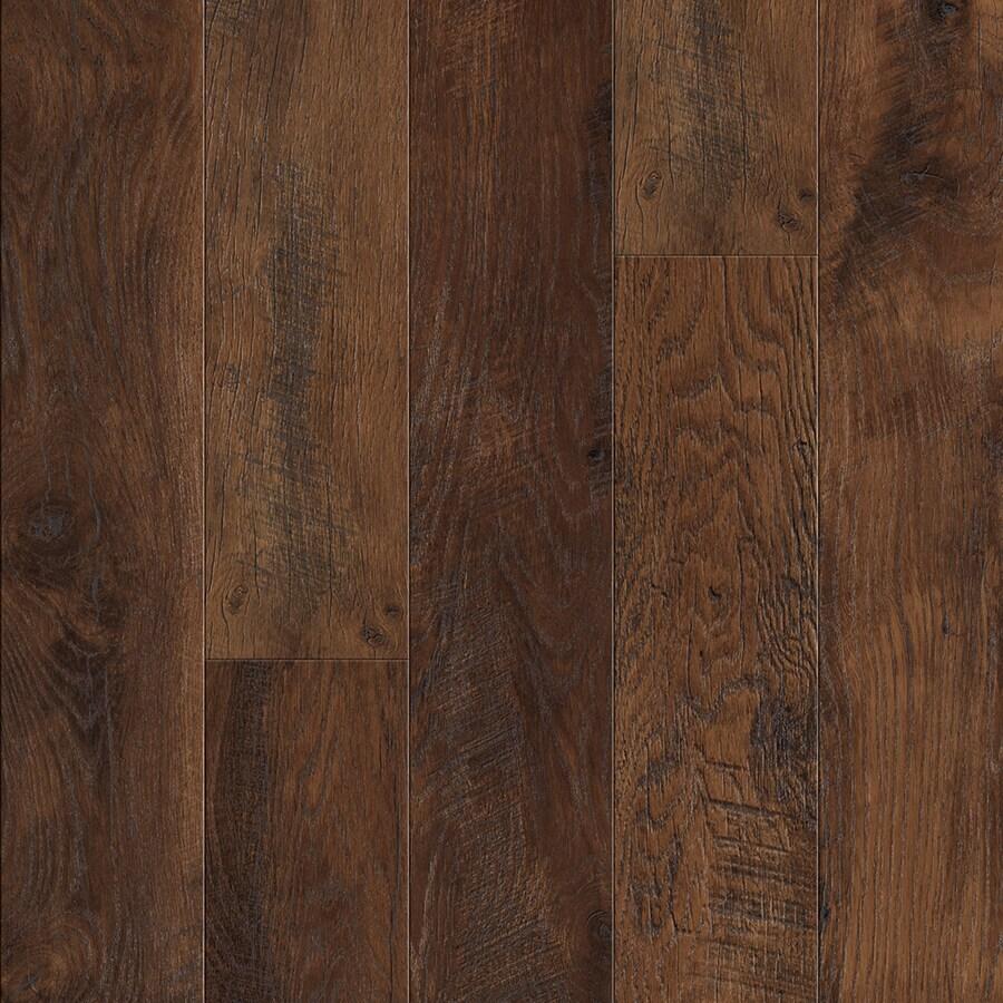 Pergo MAX 6.14-in W x 3.93-ft L Lumbermill Oak Embossed Wood Plank Laminate Flooring