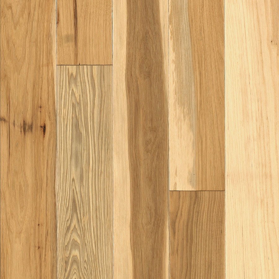 Shop pergo hickory hardwood flooring sample natural at for Hardwood floors hickory