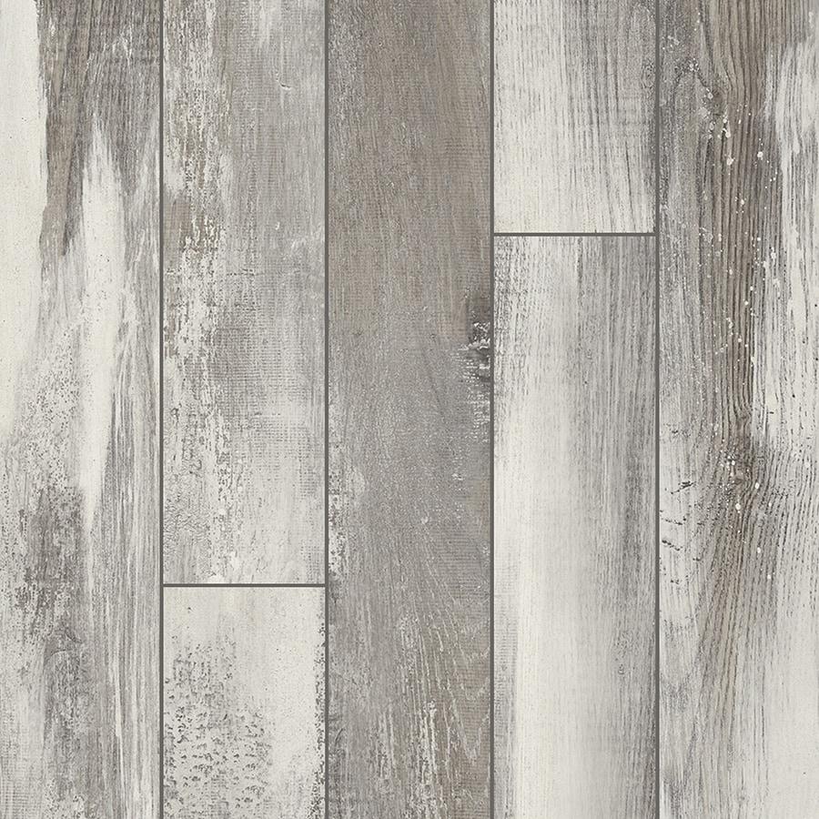 Pergo Portfolio 5.23-in W x 3.93-ft L Iceland Oak Grey Embossed Wood Plank Laminate Flooring
