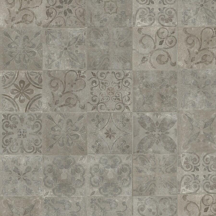 Pergo Portfolio 6.14-in W x 4.52-ft L Mediterranean Tile Smooth Tile Look Laminate Flooring