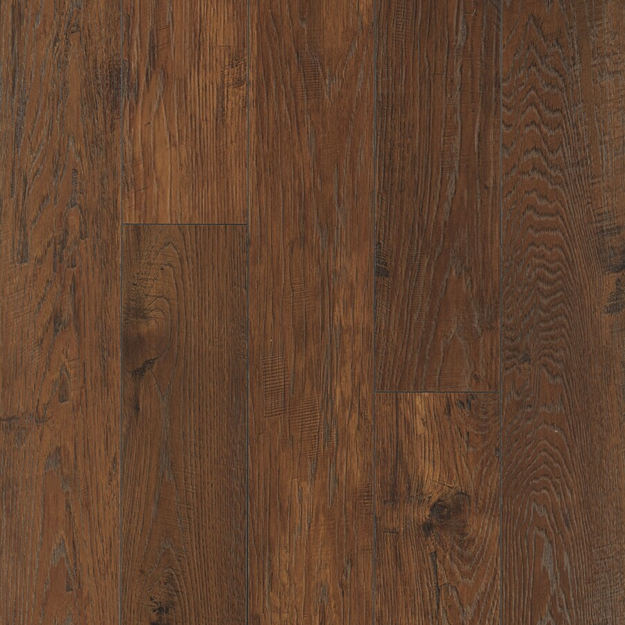Pergo MAX 6.14-in W x 3.93-ft L Colorado Hickory Wirebrushed Wood Plank Laminate Flooring