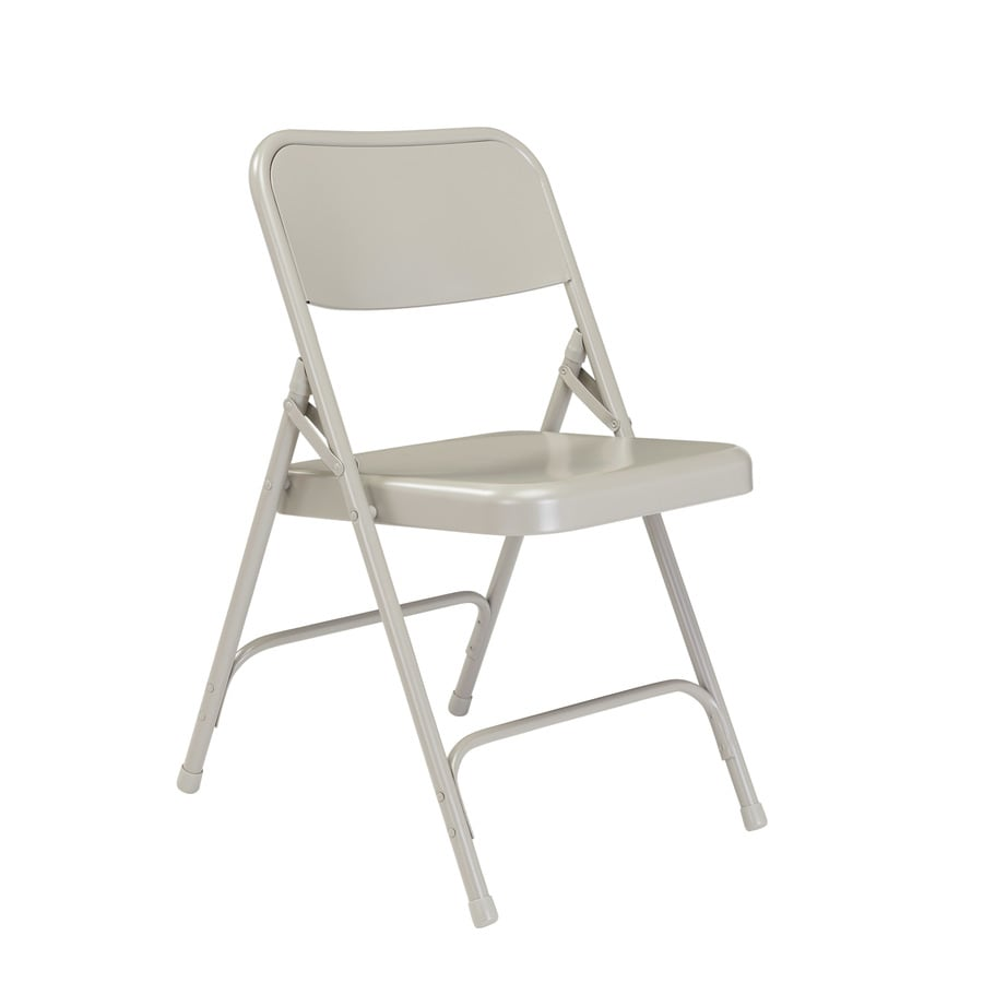 National Public Seating Set of 24 Indoor Steel Grey Standard Folding Chair