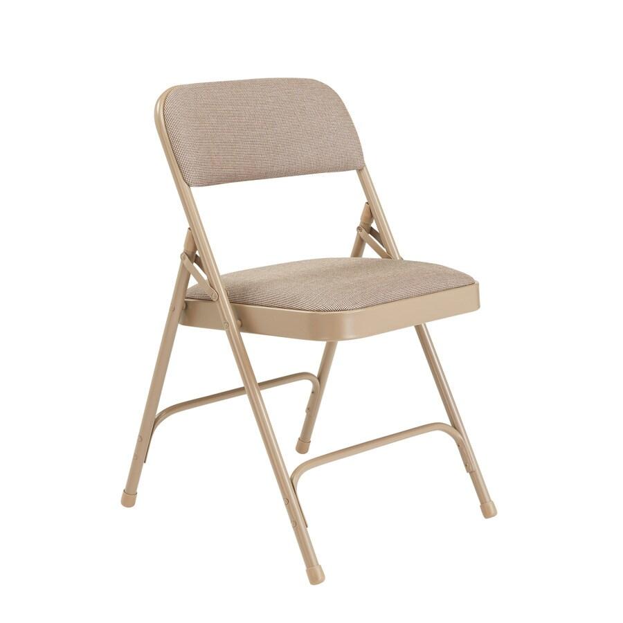 National Public Seating Set of 52 Indoor Steel Beige Banquet Folding Chair