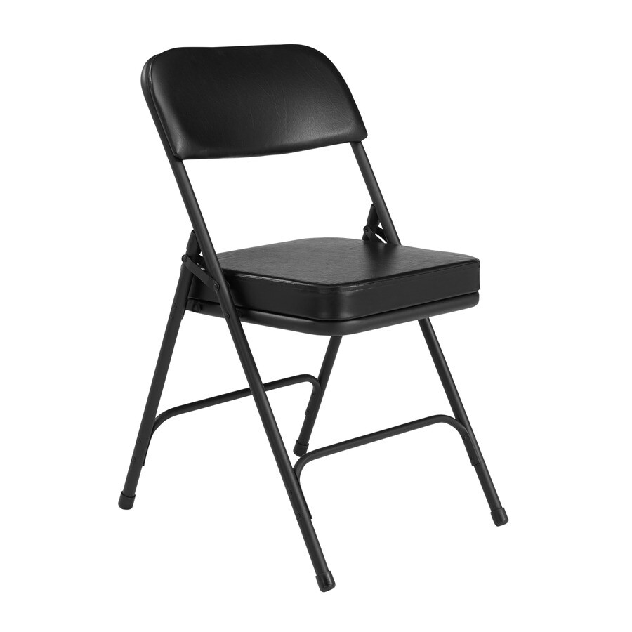 National Public Seating Set of 26 Indoor Steel Black Banquet Folding Chair