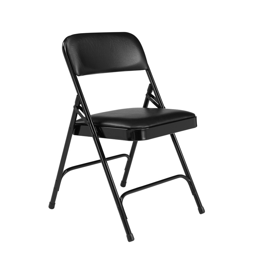 National Public Seating Set of 52 Indoor Steel Black Banquet Folding Chair