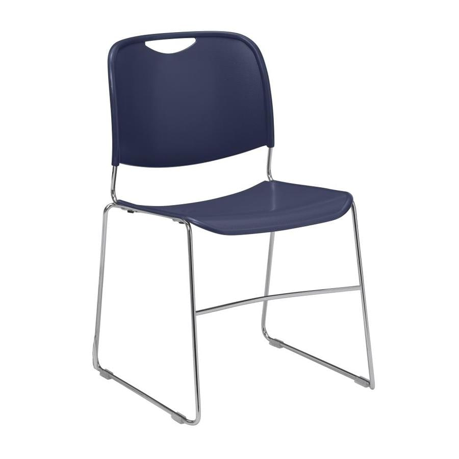 National Public Seating Navy Stackable Side Chair