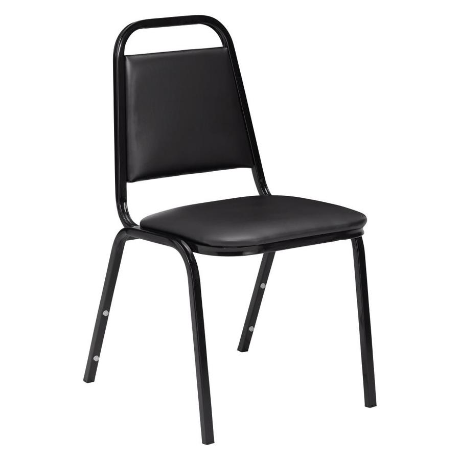 National Public Seating Black Stackable Side Chair