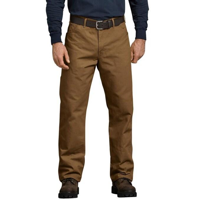 Dickies Rinsed Brown Duck Carpenter Work Pants (33 x 30) in the