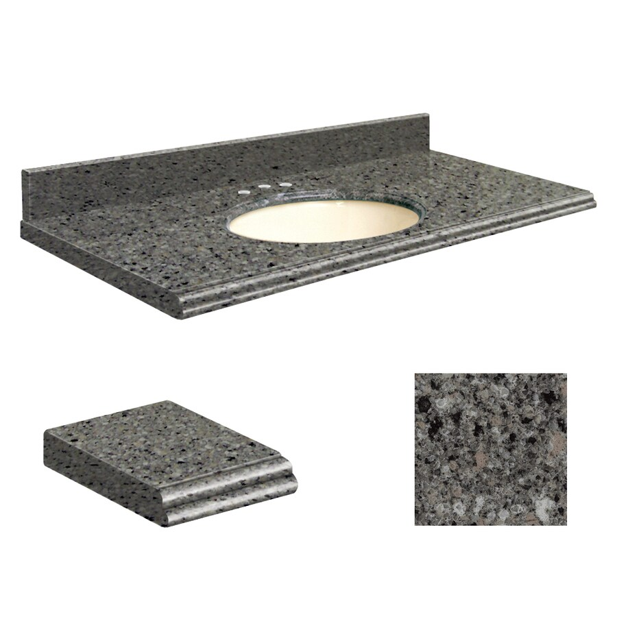 Transolid Canterbury Stone Quartz Undermount Single Sink Bathroom Vanity Top (Common: 25-in x 22-in; Actual: 25-in x 22.25-in)
