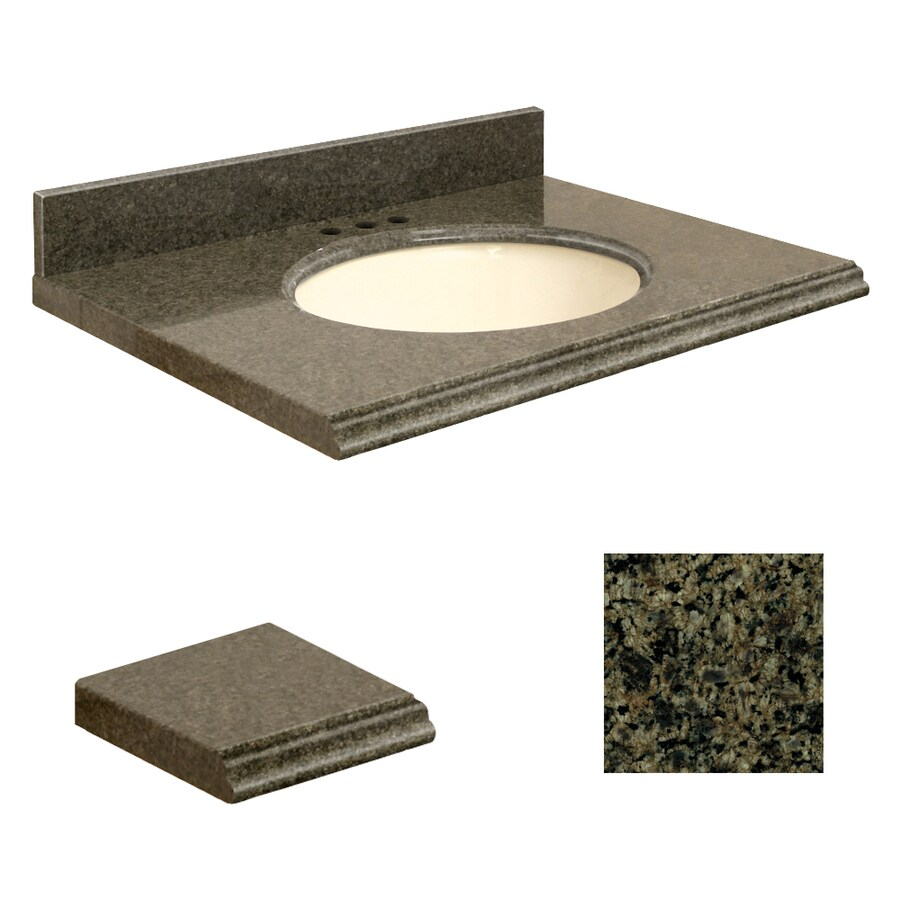 Shop Transolid Sea Green Granite Undermount Single Sink Bathroom Vanity Top Common 31 In X 19