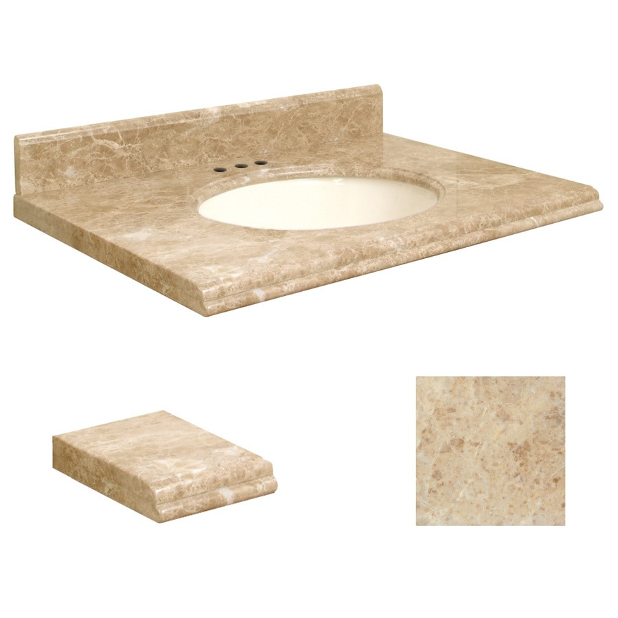 Shop Transolid 31 In W X 22 In D Cappuccino Natural Marble Undermount Single