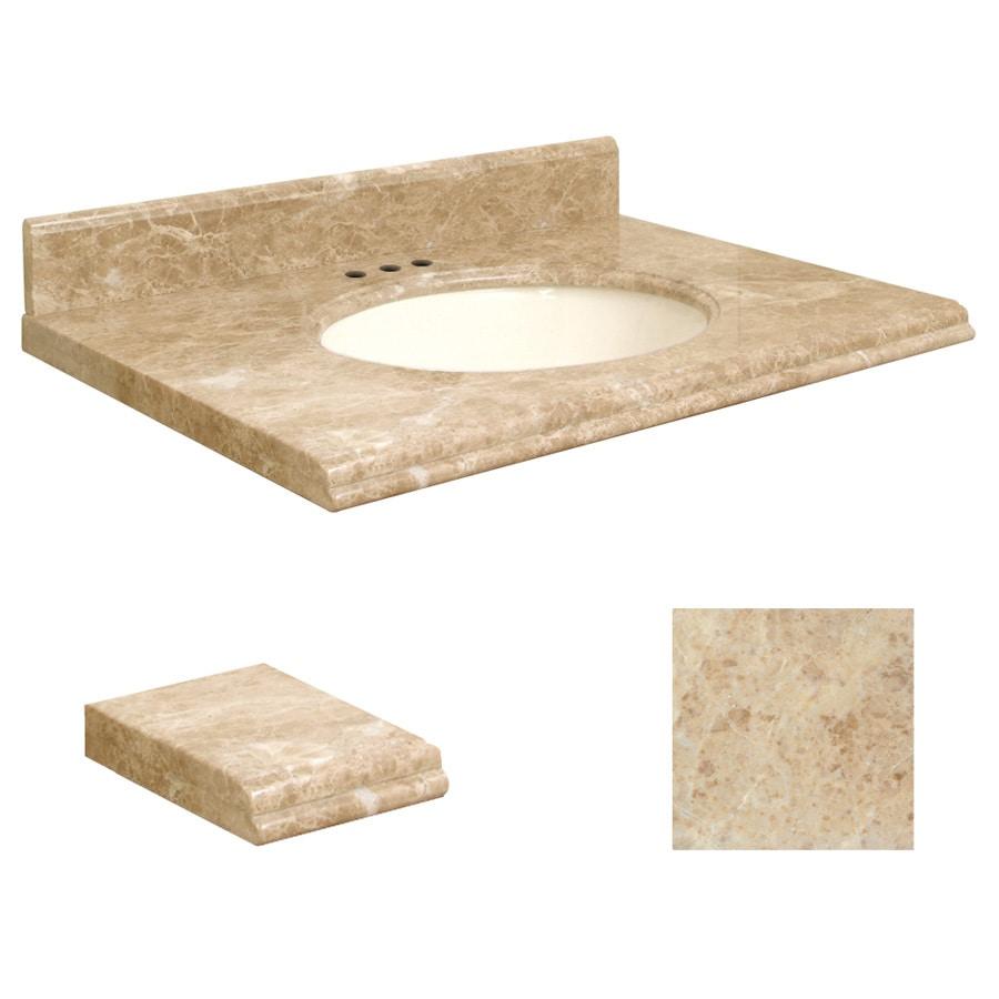 cappuccino natural marble undermount single sink bathroom vanity top