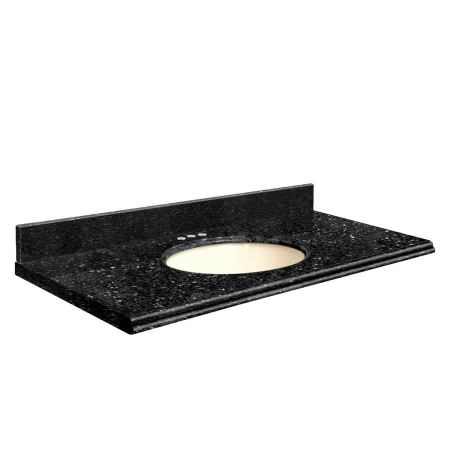 Transolid Notte Black Quartz Undermount Single Sink Bathroom Vanity Top (Common: 31-in x 22-in; Actual: 31-in x 22.25-in)