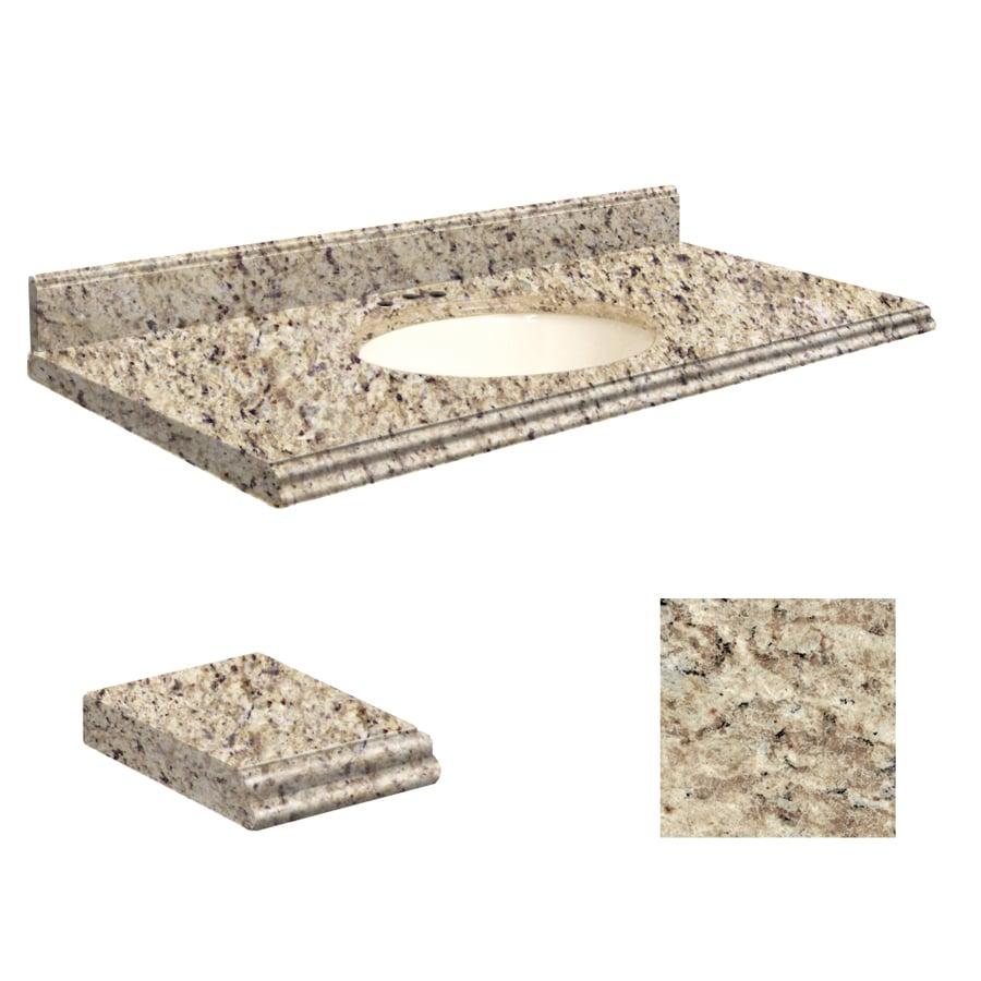 Shop Transolid Giallo Ornamental Granite Undermount Single Sink Bathroom Vanity Top Common 43