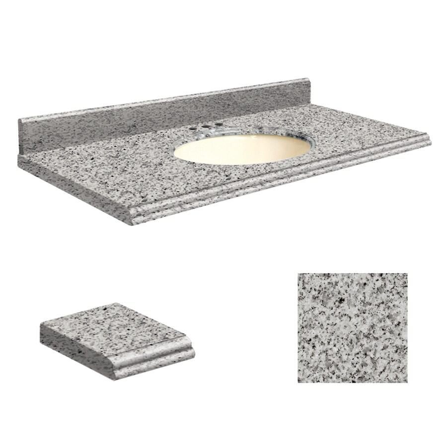 Transolid Rosselin White Granite Undermount Single Sink Bathroom Vanity Top (Common: 43-in x 22-in; Actual: 43-in x 22-in)