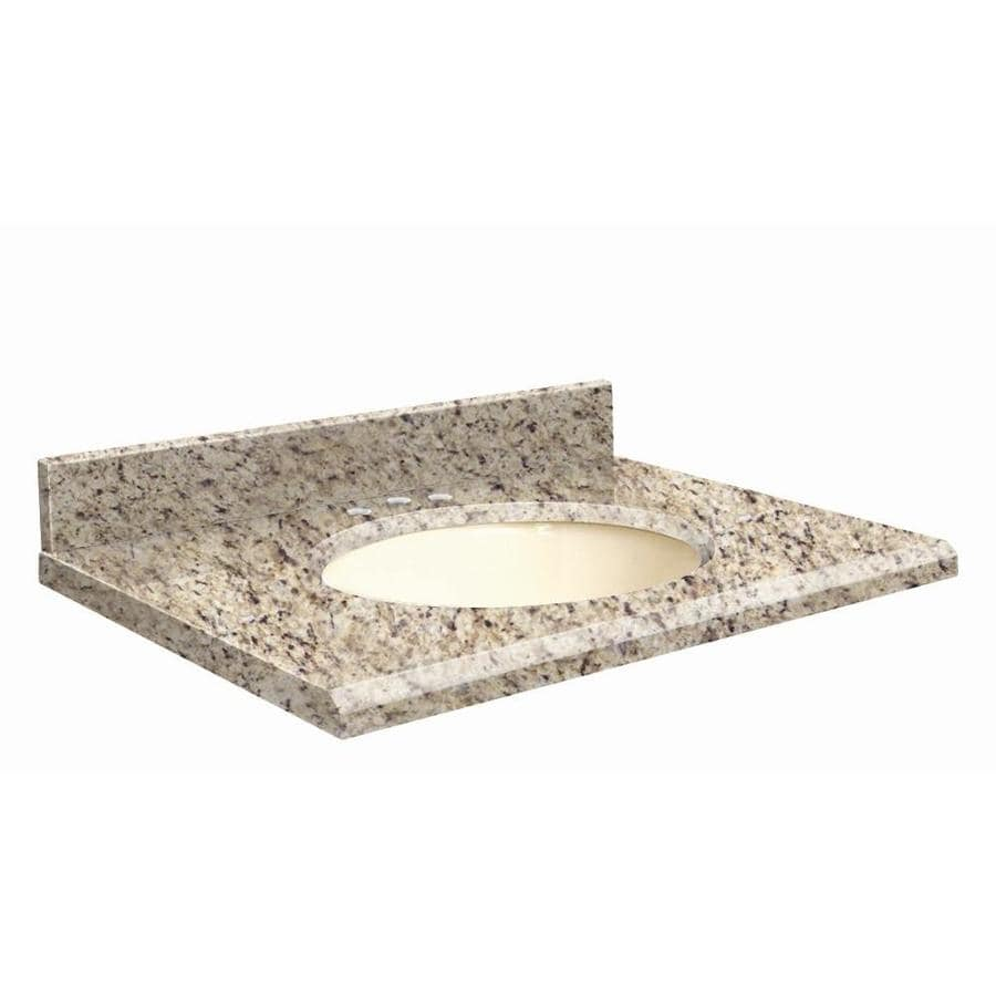 Transolid Giallo Ornamental Granite Undermount Single Sink Bathroom Vanity Top (Common: 49-in x 19-in; Actual: 49-in x 19-in)