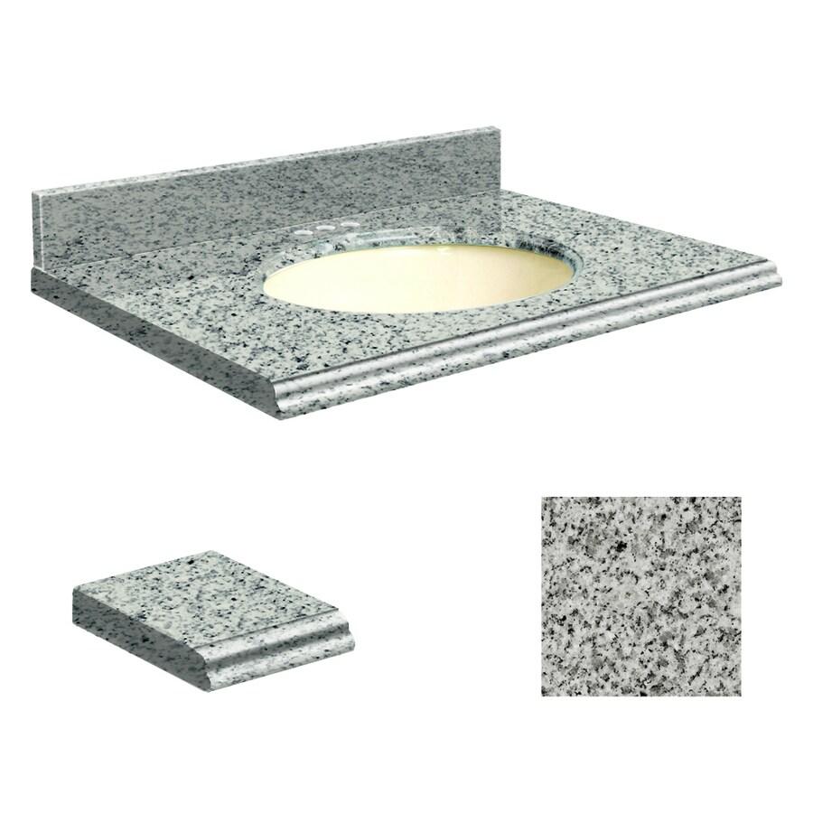 Transolid Rosselin White Granite Undermount Single Sink Bathroom Vanity Top (Common: 49-in x 22-in; Actual: 49-in x 22-in)