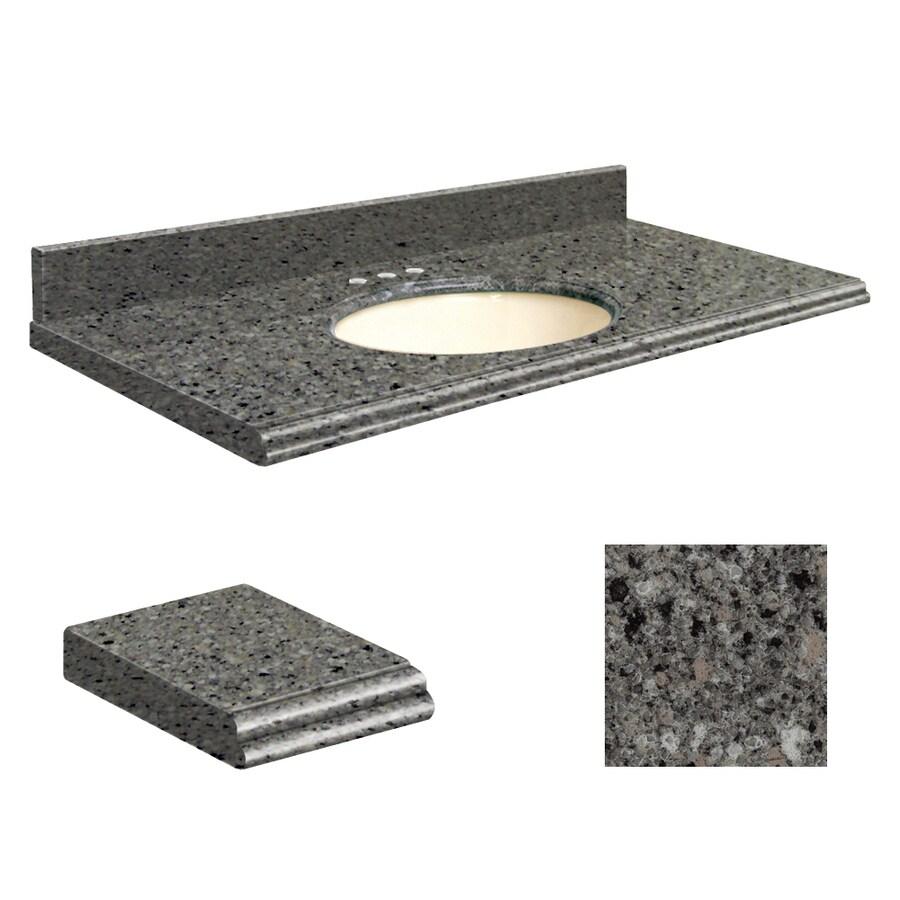 Transolid Canterbury Stone Quartz Undermount Single Sink Bathroom Vanity Top (Common: 49-in x 22-in; Actual: 49-in x 22-in)