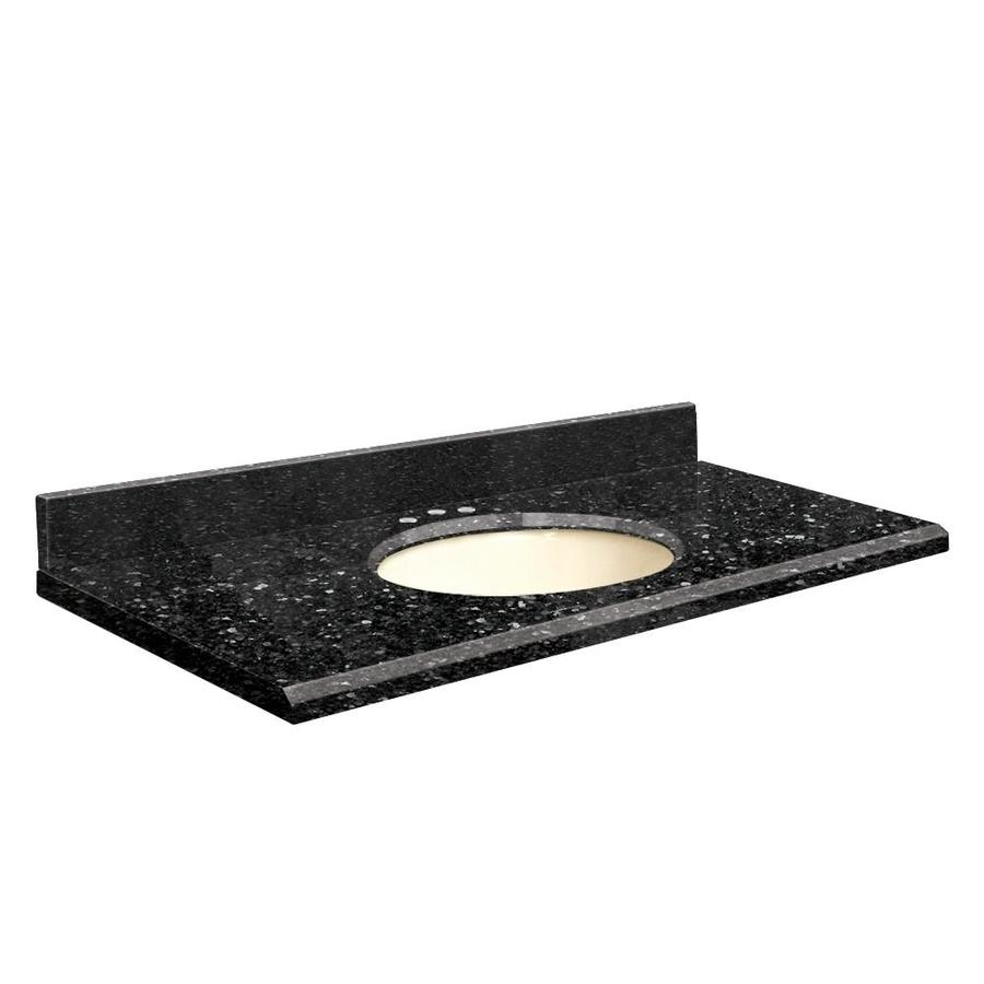 Transolid Notte Black Quartz Undermount Single Sink Bathroom Vanity Top (Common: 49-in x 22-in; Actual: 49-in x 22-in)