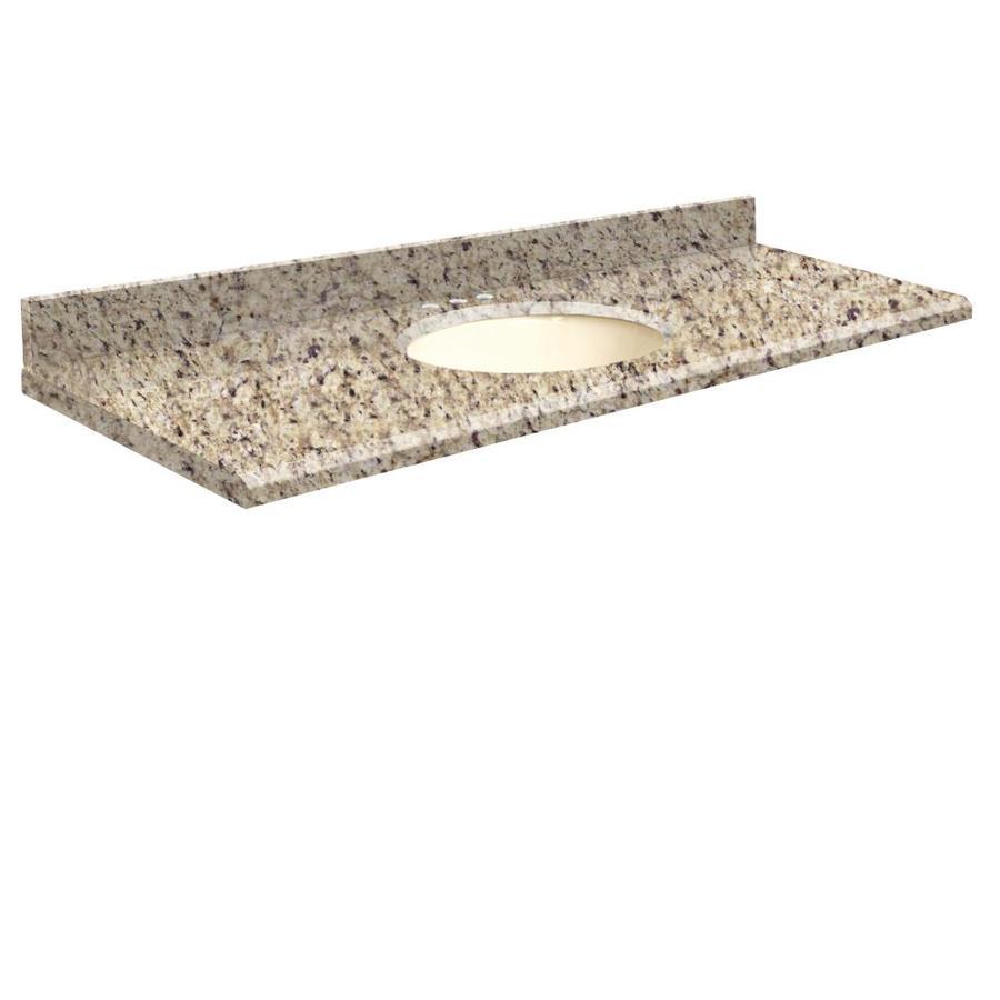 Shop Transolid Giallo Ornamental Granite Undermount Single