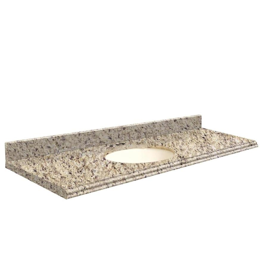 Transolid Giallo Ornamental Granite Undermount Single Sink Bathroom Vanity Top (Common: 61-in x 22-in; Actual: 61-in x 22-in)