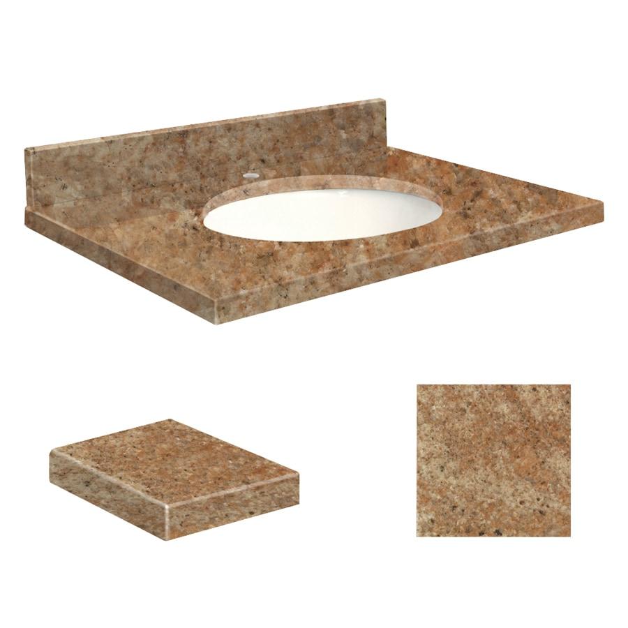 Shop Transolid India Gold Granite Undermount Single Sink