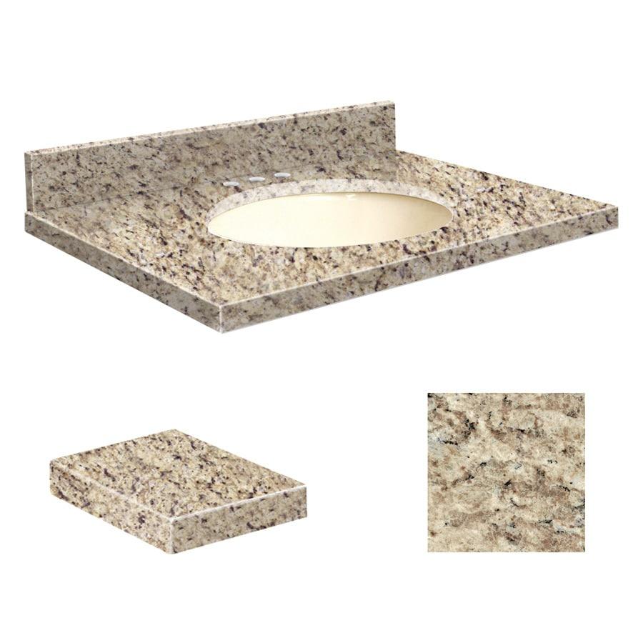 Transolid Giallo Ornamental Granite Undermount Single Sink Bathroom Vanity Top (Common: 31-in x 19-in; Actual: 31-in x 19.25-in)