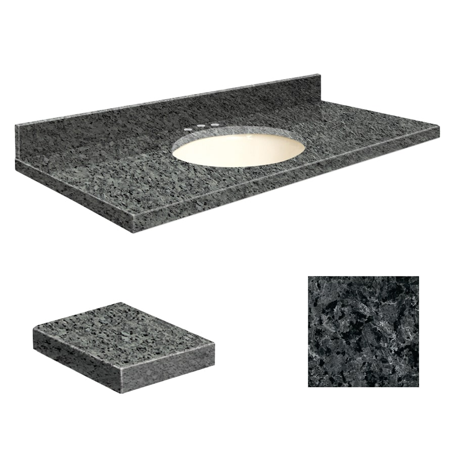 Transolid Blue Pearl Granite Undermount Single Sink Bathroom Vanity Top (Common: 37-in x 19-in; Actual: 37-in x 19.25-in)