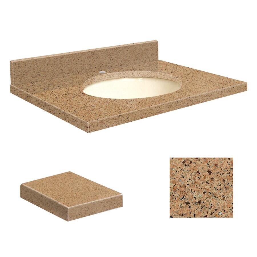 Transolid Umbria Brown Quartz Undermount Single Sink Bathroom Vanity Top (Common: 31-in x 22-in; Actual: 31-in x 22-in)