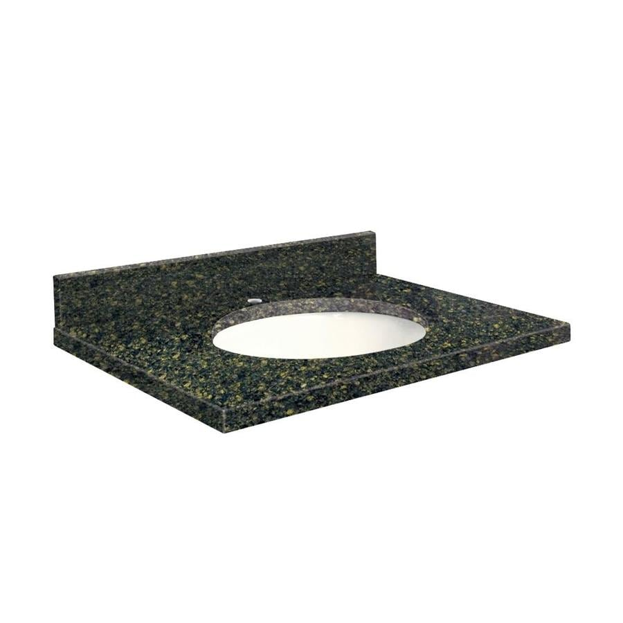 Transolid Manchester Square Quartz Undermount Single Sink Bathroom Vanity Top (Common: 31-in x 22-in; Actual: 31-in x 22-in)