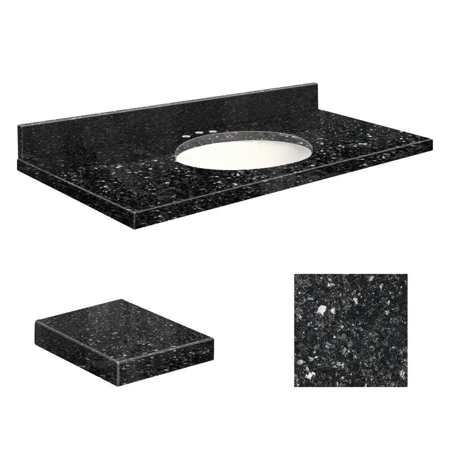 Transolid Notte Black Quartz Undermount Single Sink Bathroom Vanity Top (Common: 37-in x 19-in; Actual: 37-in x 19-in)