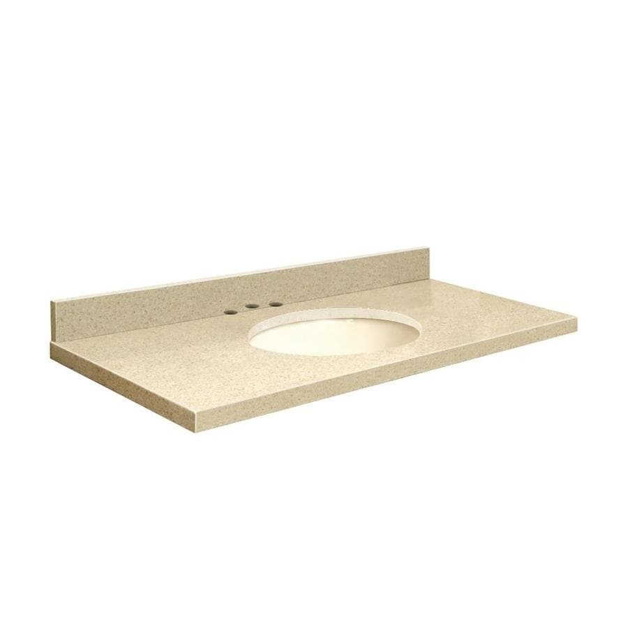 Transolid Nature's Path Quartz Undermount Single Sink Bathroom Vanity Top (Common: 49-in x 22-in; Actual: 49-in x 22-in)