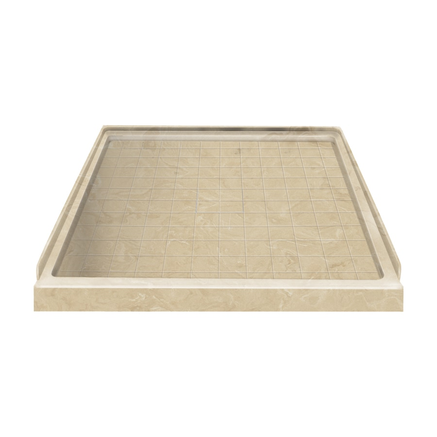 Style Selections Almond Sky Solid Surface Shower Base (Common: 36-in W x 36-in L; Actual: 36-in W x 36-in L)