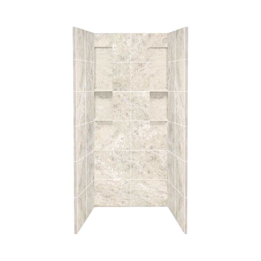 Style Selections Silver Mocha Shower Wall Surround Side and Back Panels (Common: 36-in; Actual: 80-in x 36-in)