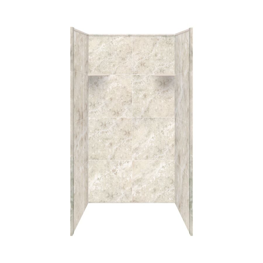 Style Selections Silver Mocha Shower Wall Surround Side and Back Panels (Common: 36-in; Actual: 72-in x 36-in)