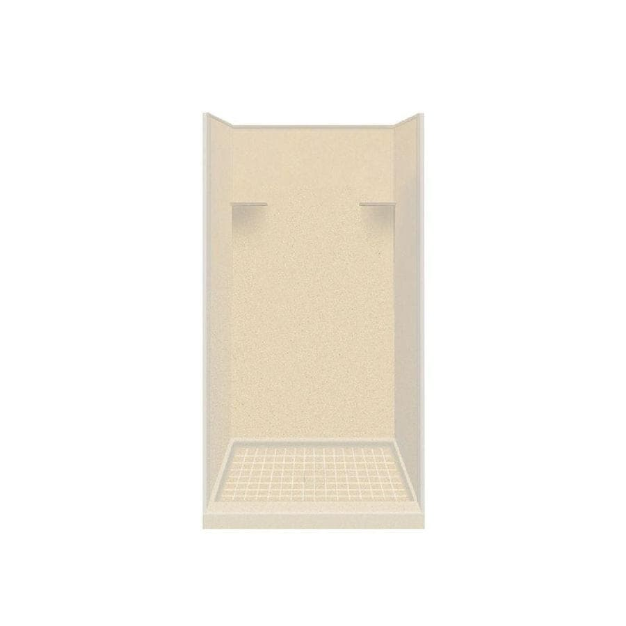 Style Selections Sea Shore Solid Surface Wall and Floor 4-Piece Alcove Shower Kit (Common: 36-in x 36-in; Actual: 75-in x 36-in x 36-in)