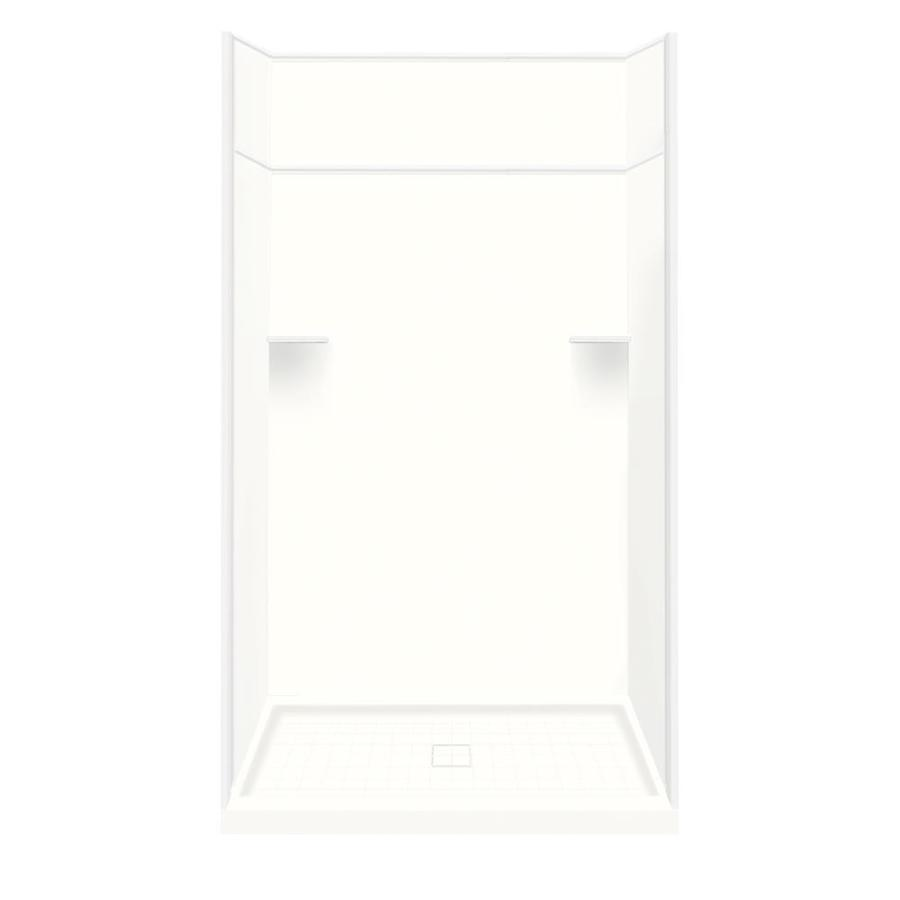 Style Selections White Solid Surface Wall and Floor 5-Piece Alcove Shower Kit (Common: 34-in x 48-in; Actual: 99-in x 34-in x 48-in)