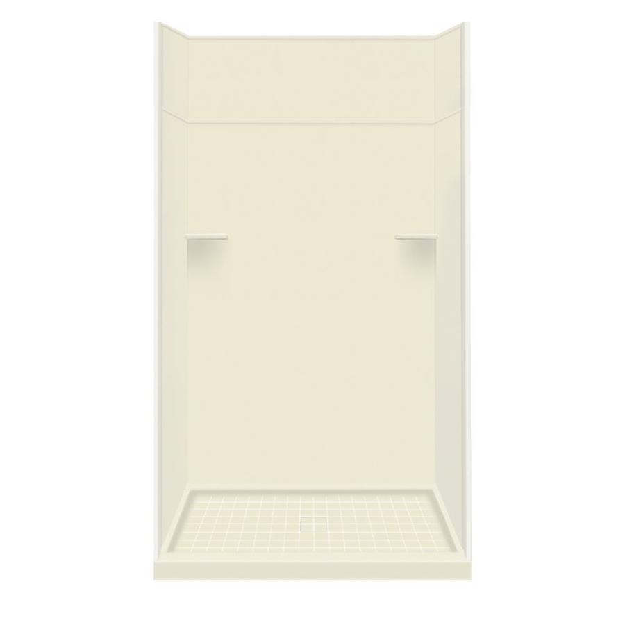 Style Selections Biscuit Solid Surface Wall and Floor 5-Piece Alcove Shower Kit (Common: 34-in x 48-in; Actual: 99-in x 34-in x 48-in)