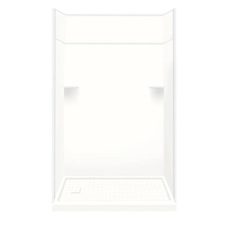 Style Selections White Solid Surface Wall and Floor 5-Piece Alcove Shower Kit (Common: 30-in x 60-in; Actual: 99-in x 30-in x 60-in)