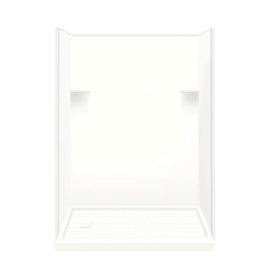 Style Selections White Solid Surface Wall and Floor 4-Piece Alcove Shower Kit (Common: 32-in x 60-in; Actual: 75-in x 32-in x 60-in)