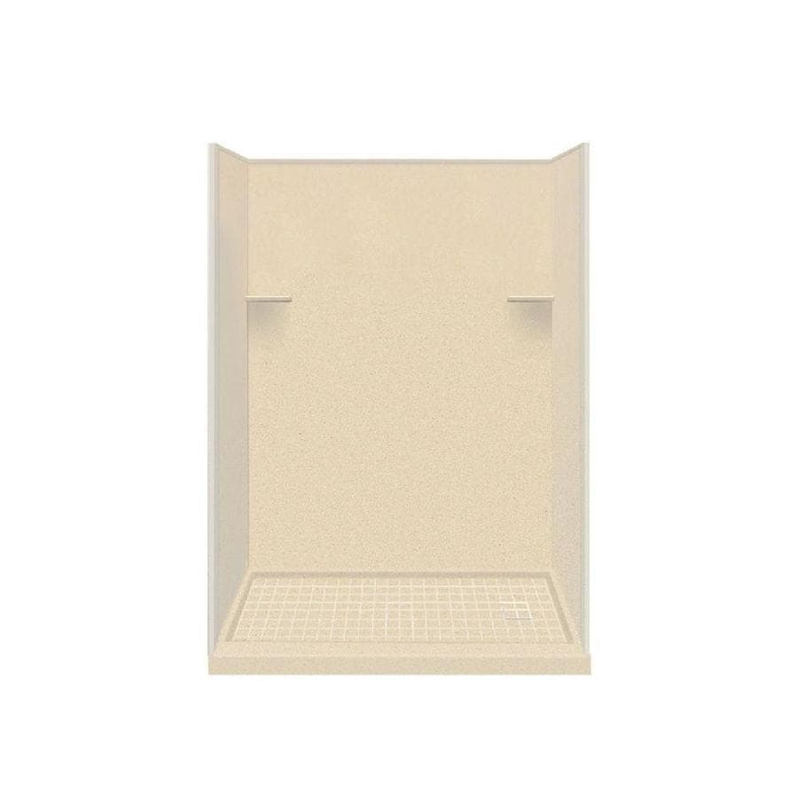 Style Selections Sea Shore Solid Surface Wall and Floor 4-Piece Alcove Shower Kit (Common: 32-in x 60-in; Actual: 75-in x 32-in x 60-in)