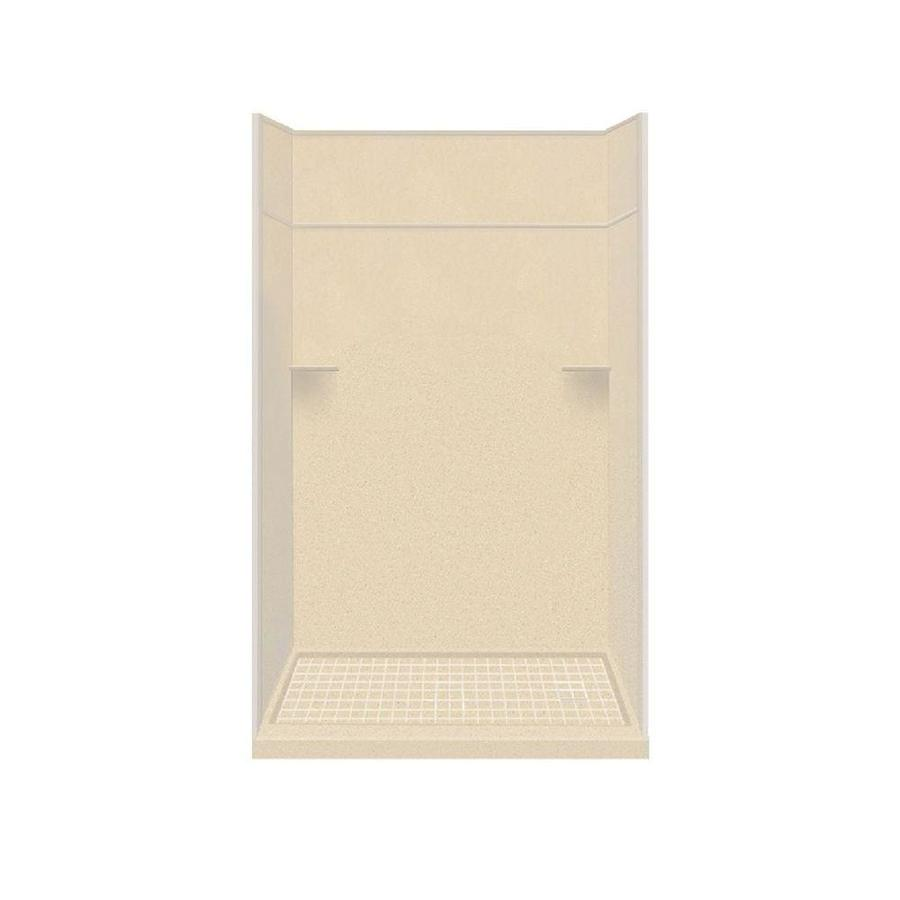Style Selections Sea Shore Solid Surface Wall and Floor 5-Piece Alcove Shower Kit (Common: 32-in x 60-in; Actual: 99-in x 32-in x 60-in)