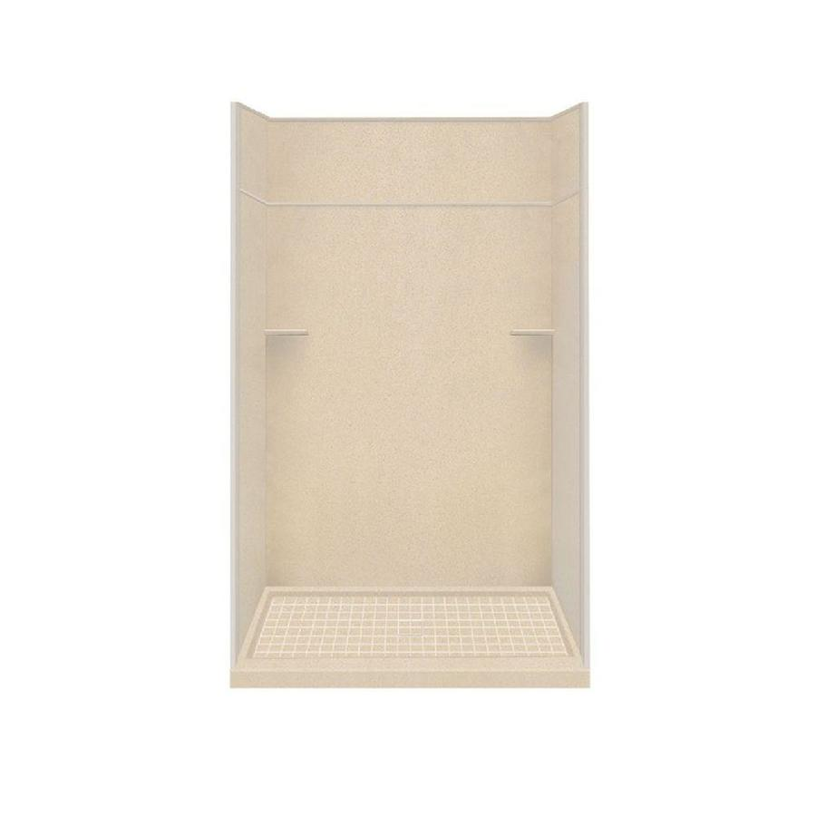 Style Selections Matrix Khaki Solid Surface Wall and Floor 5-Piece Alcove Shower Kit (Common: 36-in x 60-in; Actual: 99-in x 36-in x 60-in)